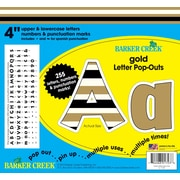 "Barker Creek 4"" 24k Gold Letter Pop-Outs & Poster Letters with Gold Foil, 255 characters/Pack"