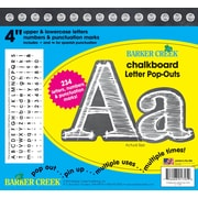 """Barker Creek 4"""" White Chalkboard Pop-Outs & Poster Letters, 234 characters/Pack"""