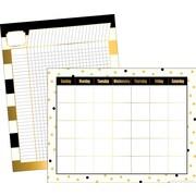 "Barker Creek 17"" x 22"" Gold Calendar & Incentive Chart Set, Reproducible Activities on the Backs, 2 Charts/Set"