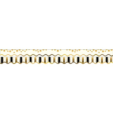 Barker Creek Gold Coins Double-Sided Scalloped Edge Border, 39 feet of 2-1/4