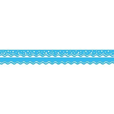 Barker Creek Happy Pool Blue Double-Sided Scalloped Edge Border, 39 feet of 2-1/4