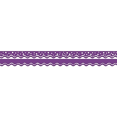 Barker Creek Happy Grape Double-Sided Scalloped Edge Border, 39 feet of 2-1/4