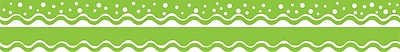 Barker Creek Happy Lime Green Double-Sided Scalloped Edge Border, 39 feet of 2-1/4