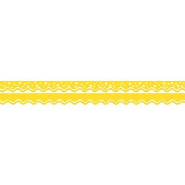 Barker Creek Happy Lemon Yellow Double-Sided Scalloped Edge Border, 39 feet of 2-1/4