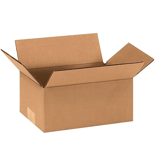 "853 Brown 3"" x 8"" Corrugated Boxes, 25/Bundle"