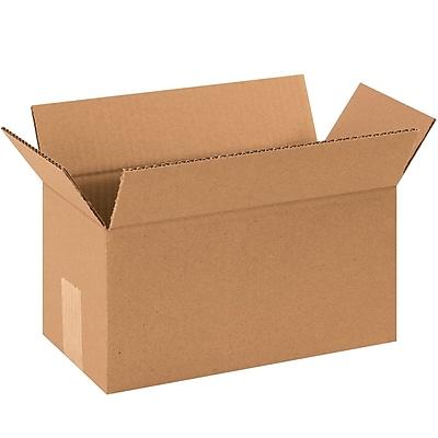 "1277 Brown 7"" x 12"" Corrugated Boxes, 25/Bundle"