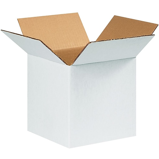 "999W White 9"" x 9"" Kraft Corrugated Mailers, 25/Bundle"