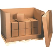 """58"""" x 41"""" x 45""""  Kraft Double Wall 4-Piece Air Cargo Container,350#/51ECT, 1/Bundle (AF584145)"""