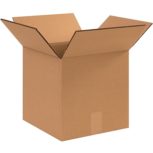 """12"""" x 12"""" Double Wall Kraft Corrugated Boxes, 15/Bundle (121212HDDW)"""