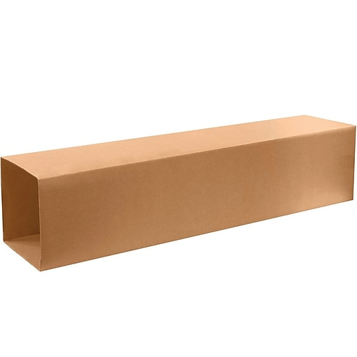 "12.5"" x 12.5"" x 48"" Kraft Corrugated Telescoping Inner Boxes, Brown, 15/Bundle, Box 2 of 2 (T121248OUTER)"
