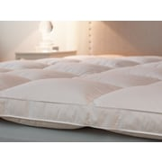 Down Inc. Bordered Baffled 2.5'' Down Mattress Topper; Full