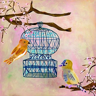 GreenBox Art 'Vintage Birdhouse' by Linda Ketelhut Painting Print on Wrapped Canvas