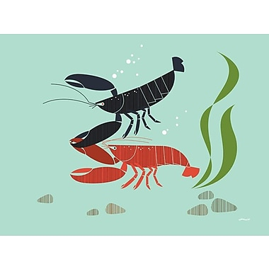 GreenBox Art 'Undersea Lobster' by Eleanor Grosch Graphic Art on Wrapped Canvas