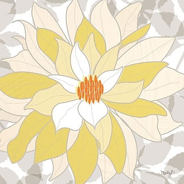 GreenBox Art 'White Dahlia' by Molly Bernarding Graphic Art on Wrapped Canvas