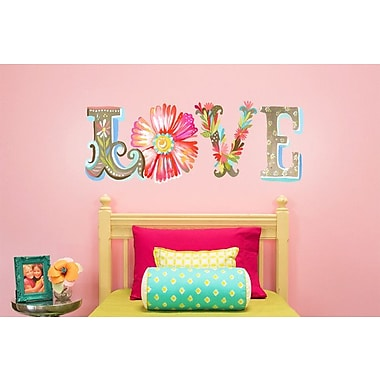 Wheatpaste Floral Love Wall Decal