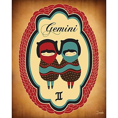 Wheatpaste Constellation of Gemini by Susana Parada Framed Graphic Art on Wrapped Canvas