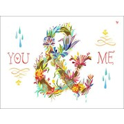 Wheatpaste You & Me Floral by Katie Daisy Framed Graphic Art on Wrapped Canvas