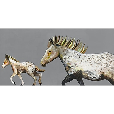 GreenBox Art 'Speckled Pony Ride' by Eli Halpin Graphic Art on Wrapped Canvas