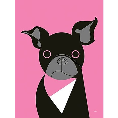 GreenBox Art Mod Dog Pug by Eleanor Grosch Graphic Art on Wrapped Canvas; 40'' H x 30'' W x 1.5'' D