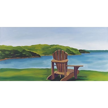 GreenBox Art 'Adirondack Chair' by Catherine Breer Painting Print on Wrapped Canvas