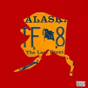 Oopsy Daisy Alaska License Plate Map by Aaron Foster Graphic Art on Wrapped Canvas in Red