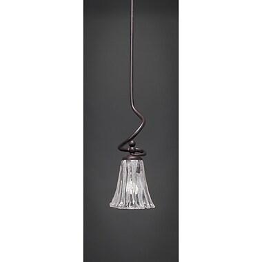 Toltec Lighting Capri Stem Mini Pendant w/ Hang Straight Swivel; Italian Ice