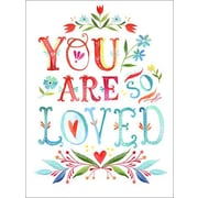 Wheatpaste You Are So Loved by Katie Daisy Framed Graphic Art on Wrapped Canvas
