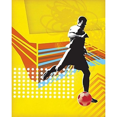 Wheatpaste Footballer by Paste Face Framed Graphic Art on Wrapped Canvas; 24'' H x 18'' W x 1.5'' D