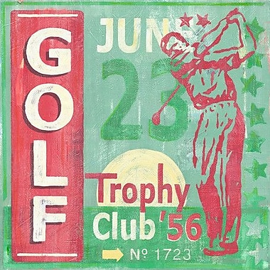 Oopsy Daisy Golf Classic by Roger Groth Graphic Art on Wrapped Canvas; 30'' H x 30'' W x 1.5'' D