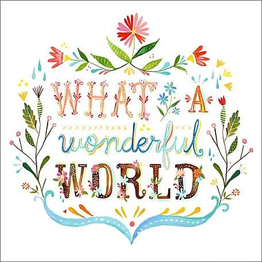 Wheatpaste What A Wonderful World by Katie Daisy Framed Graphic Art on Wrapped Canvas