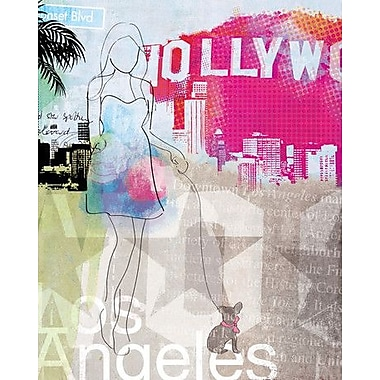 Wheatpaste City Girl Los Angeles by Natalie Alexander Framed Graphic Art on Wrapped Canvas