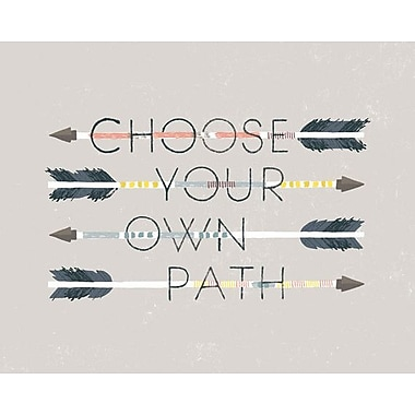 Wheatpaste Choose Your Own Path by Small Talk Studio Framed Graphic Art on Wrapped Canvas