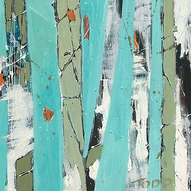 GreenBox Art 'Columns' by Todd Clark Painting Print on Wrapped Canvas; 14'' H x 14'' W x 1.5'' D