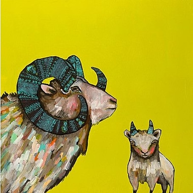GreenBox Art 'Billy and Billy Jr.' by Eli Halpin Painting Print on Wrapped Canvas