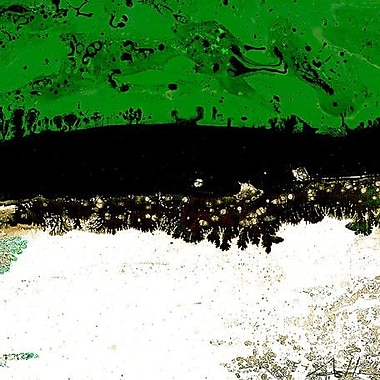 GreenBox Art 'Line Series 4' by Andy Anh Ha Graphic Art on Wrapped Canvas in Green