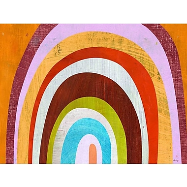 GreenBox Art 'Rainbow Arch' by Melanie Mikecz Painting Print on Wrapped Canvas