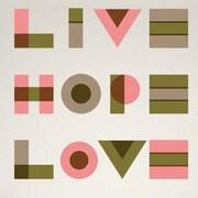 GreenBox Art Live, Hope, Love Wall Decal; Neutral