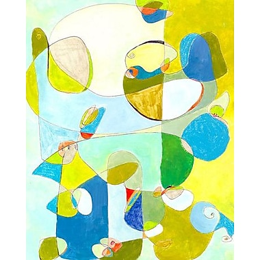 GreenBox Art 'Time' by Jennifer Mercede Painting Print on Wrapped Canvas