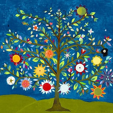 GreenBox Art 'Tree of Life' by Caroline Blum Painting Print on Wrapped Canvas