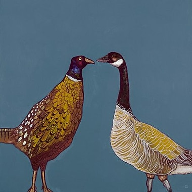 GreenBox Art 'Pheasant and Goose' by Eli Halpin Graphic Art on Wrapped Canvas