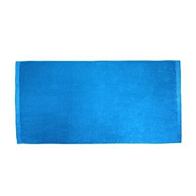 Terry Town Velour Beach Towel; Aqua