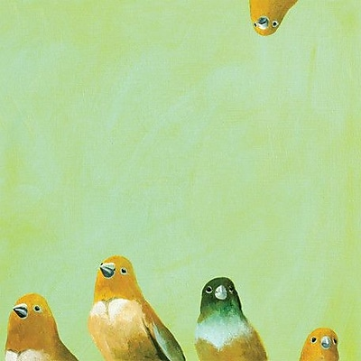GreenBox Art 'Family of Feathers' by Mincing Mockingbird Painting Print on Wrapped Canvas