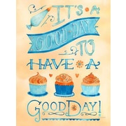 GreenBox Art 'Good Day' by Becca Cahan Graphic Art on Wrapped Canvas