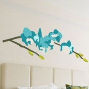 GreenBox Art Orchid Wall Decal; Turquoise