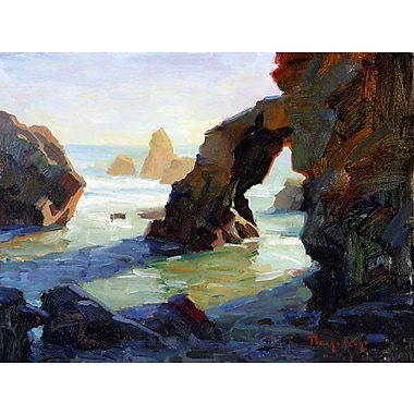 GreenBox Art 'Late Afternoon at El Matador' by Stanislav Prokopenko Painting Print on Wrapped Canvas
