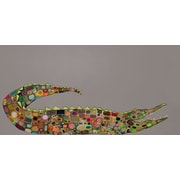GreenBox Art 'Crocodile' by Eli Halpin Painting Print on Wrapped Canvas; 24'' H x 48'' W x 1.5'' D