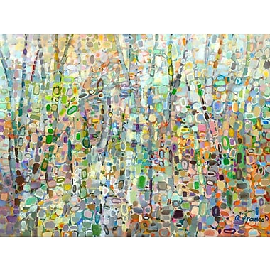 GreenBox Art 'Abstract Forest' by Angelo Franco Painting Print on Wrapped Canvas