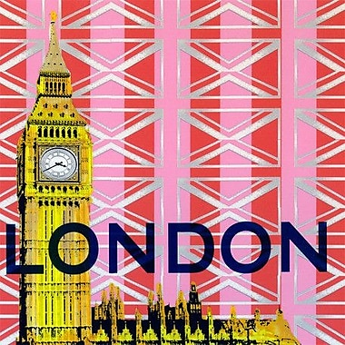 GreenBox Art Take Me Away 'London' by Shelly Kennedy Graphic Art on Wrapped Canvas