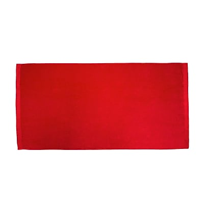 Terry Town Velour Beach Towel; Red