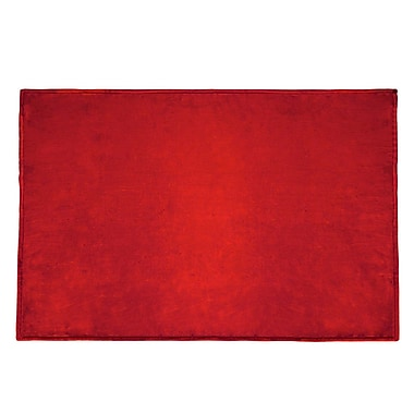 Terry Town Tahoe Microfleece Throw; Red